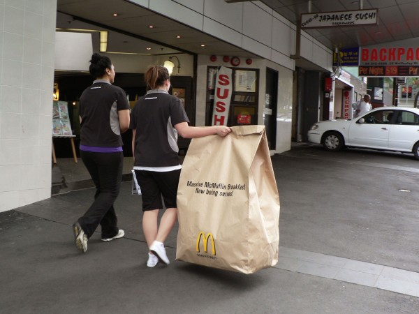 Ambient-marketing-mcdonalds-queen-street-auckland-DDB-massive-mcmuffin-breakfast-3-600x450