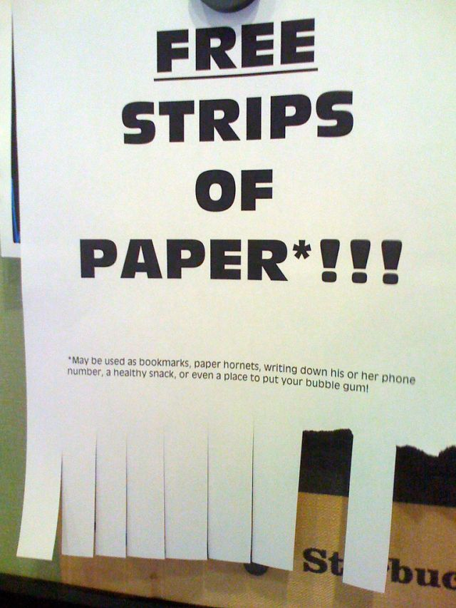 Free-strips-of-paper